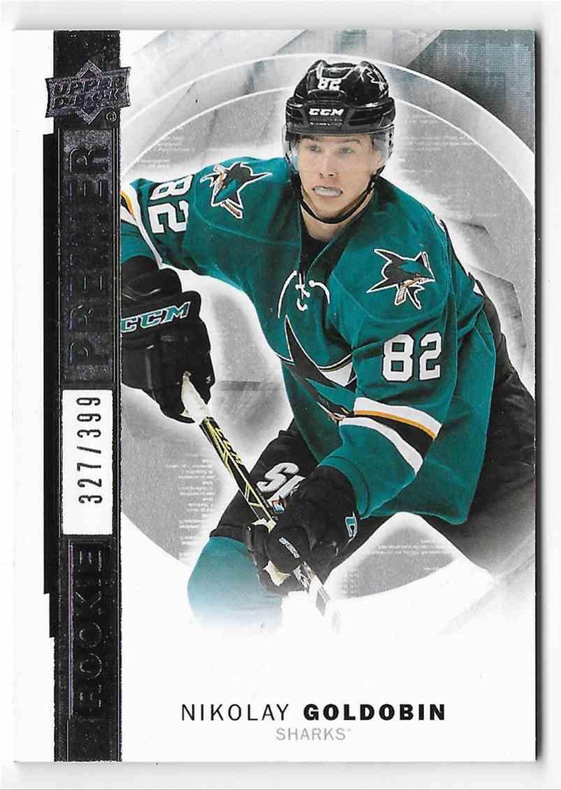 2015-16 Upper Deck Premier Nikolay Goldobin #R-9 card front image