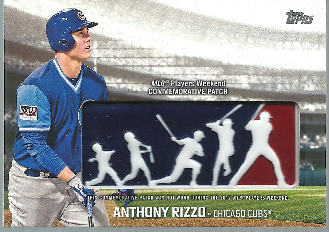 2018 Topps Players Weekend Patches Anthony Rizzo #PWP-ARI card front image