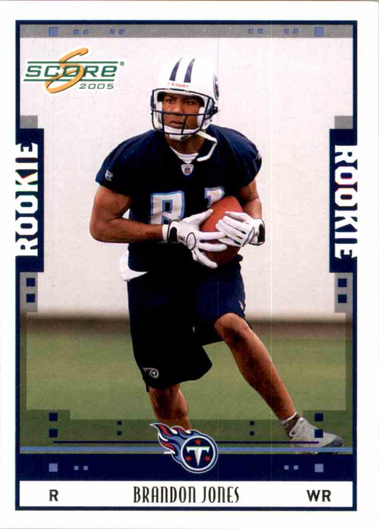 2005 Score Brandon Jones RC #375 card front image
