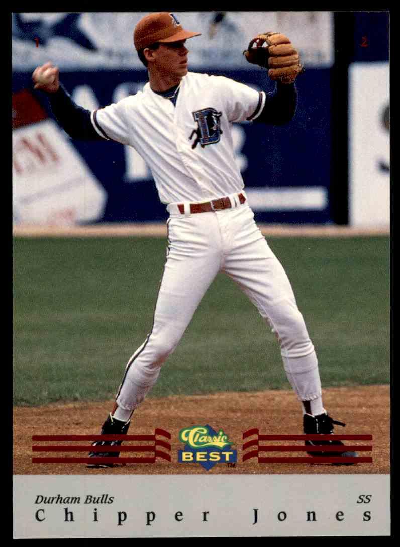 1992 Classic Best Bonus Minors Rookie Red Foil Chipper Jones Bc7