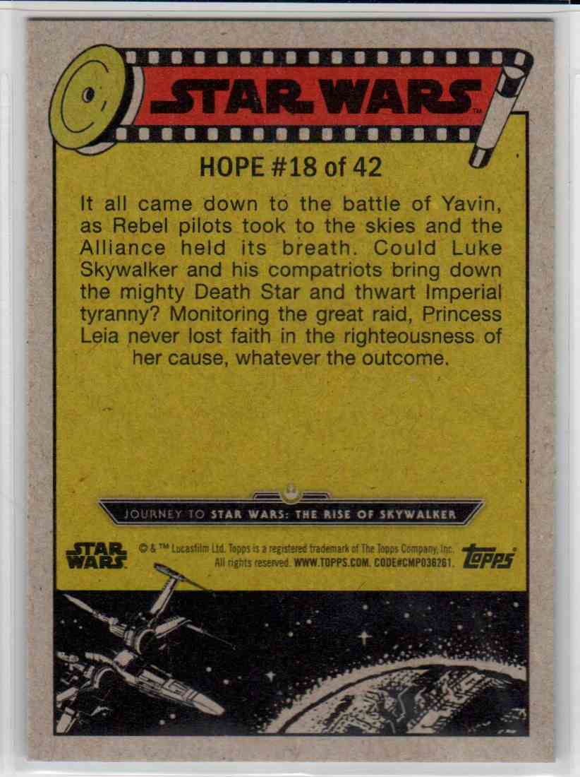 2019 Topps Star Wars Journey To Rise Of Skywalker Battle Against The Empire #18 card back image