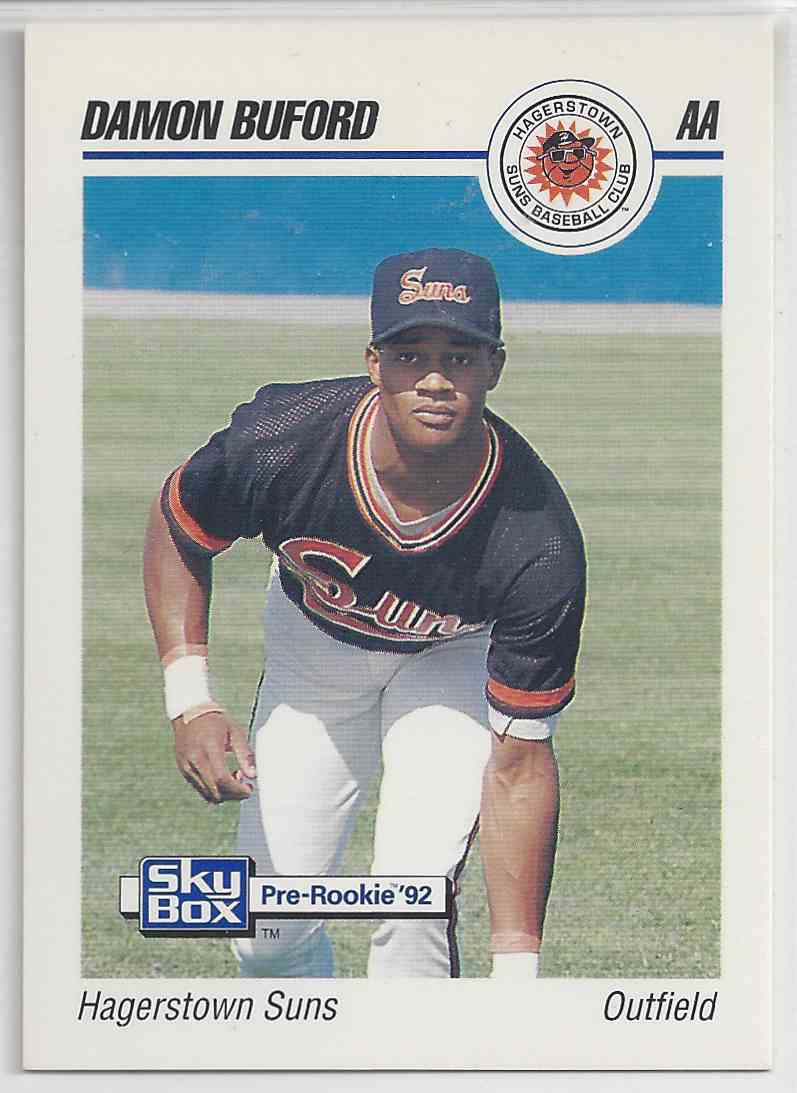 1991 Impel Pre-Rookie Damon Buford #228 card front image