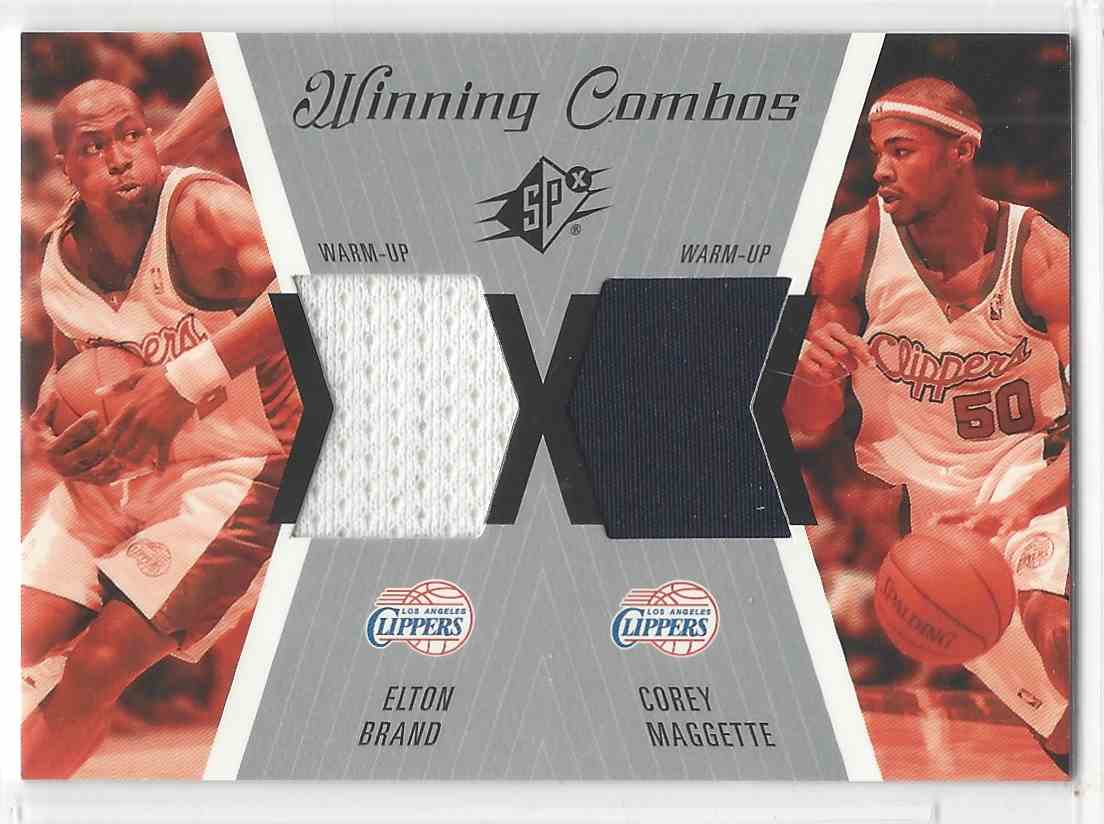 2003-04 SPx Winning Combos Elton Brand #WC32 card front image