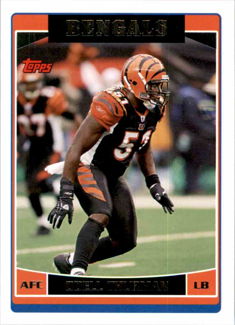 2006 Topps Odell Thurman #31 card front image