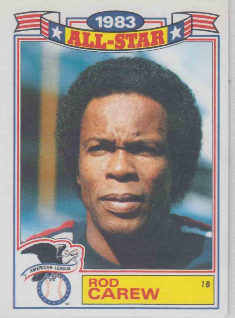 Honkbal 1983 Fleer #81 Rod Carew Los Angeles Angels Baseball Card Verzamelingen