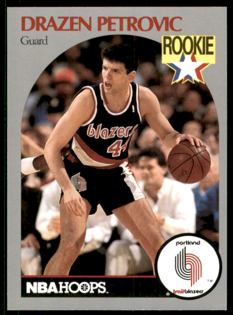 1990-91 Hoops Drazen Petrovic RC #248 card front image