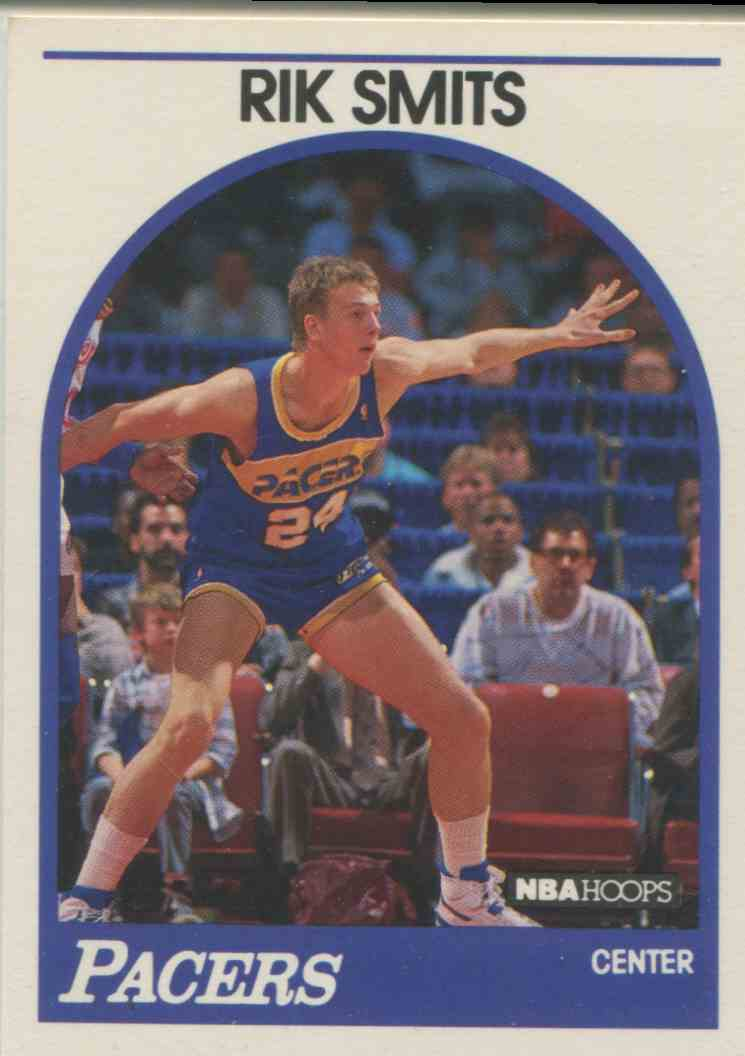 1989 90 NBA Hoops Rik Smits 37 on Kronozio