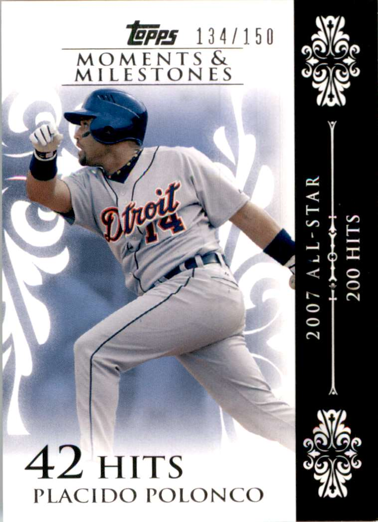 2008 Topps Moments And Milestones Placido Polanco/Uer Last Name Misspelled #103 card front image