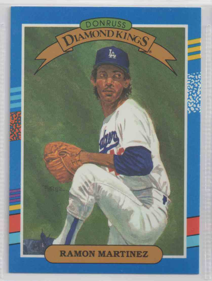 1991 Donruss Diamond Kings Ramon Martinez 15 On Kronozio