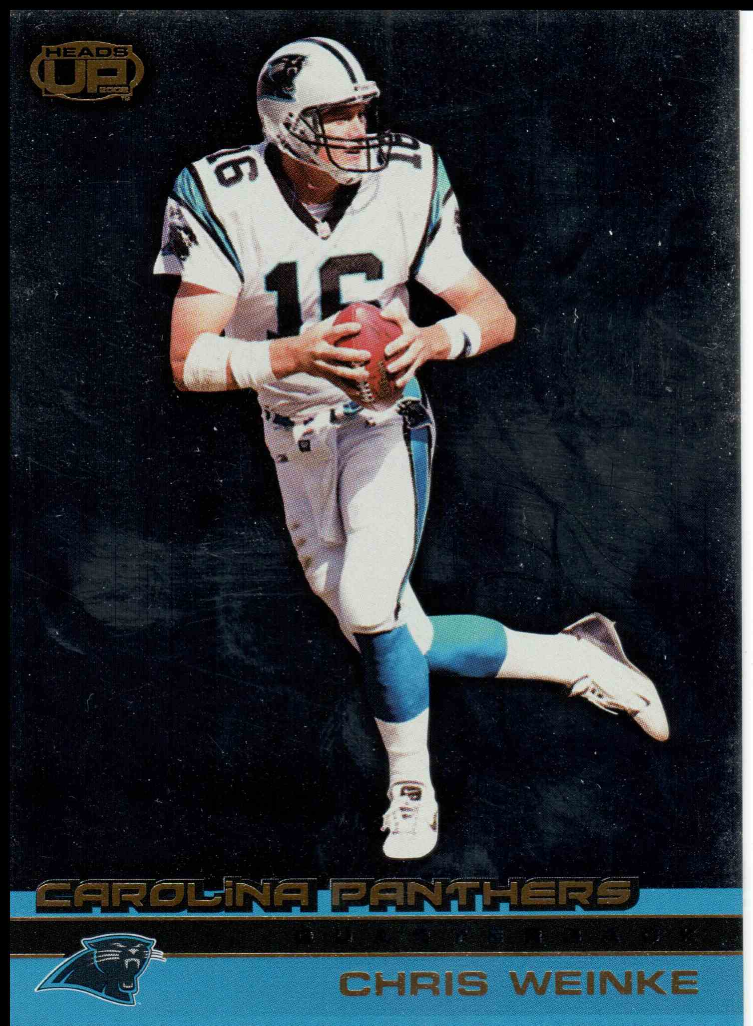 2002 Pacific Heads Up Chris Weinke #20 card front image