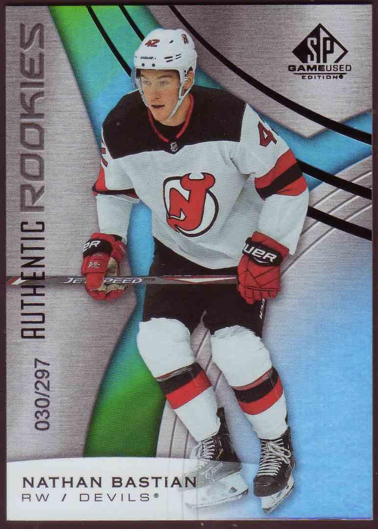 2019-20 SP Game Used Orange Rainbow Nathan Bastian #153 card front image