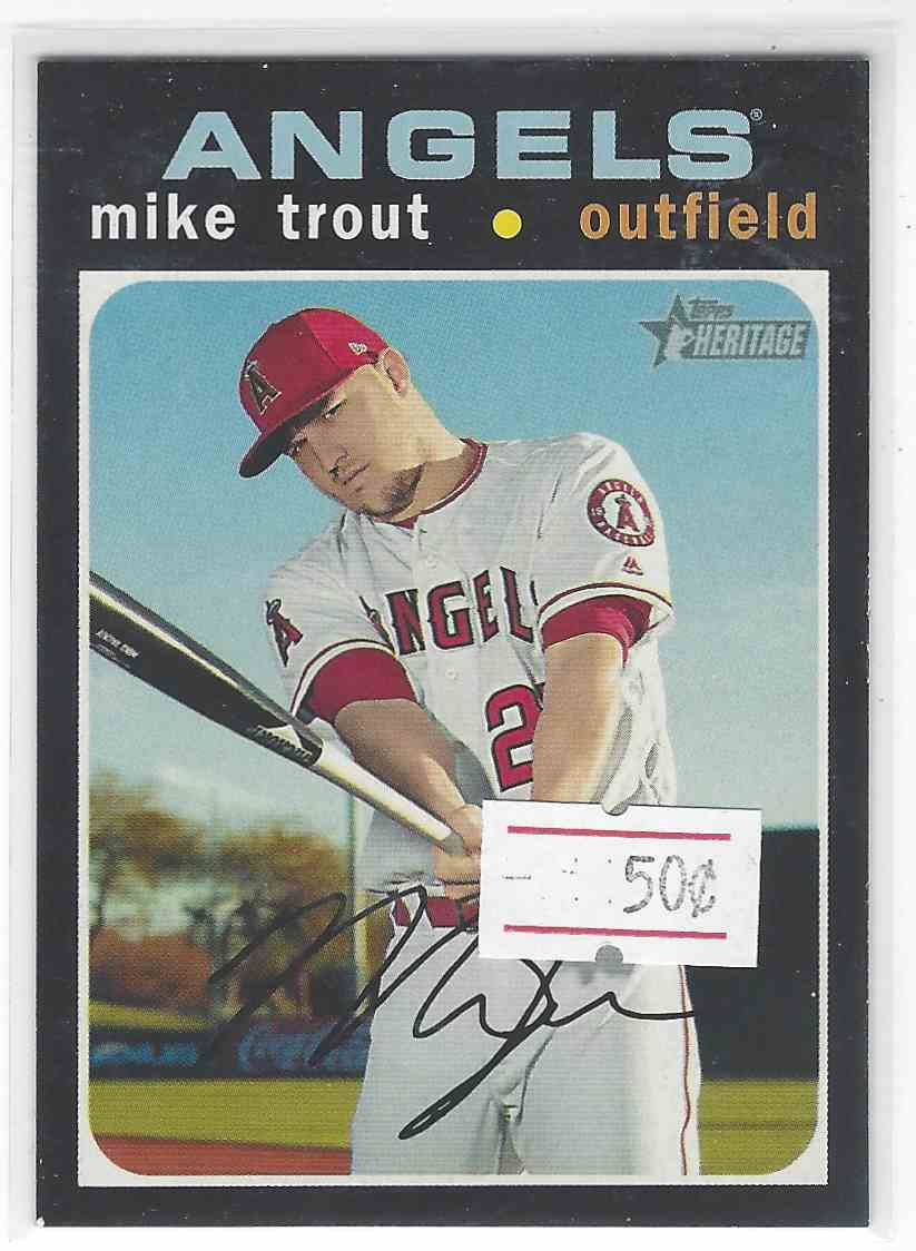 2020 Topps Heritage Mike Trout #466 card front image