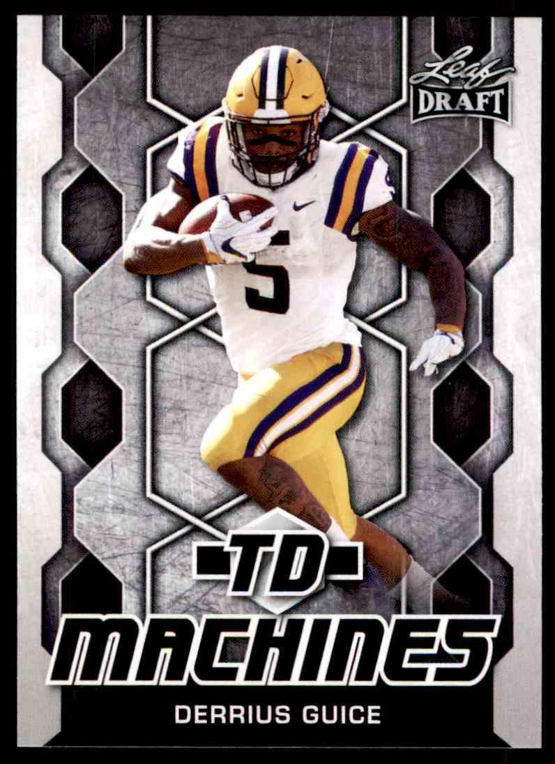 2018 Leaf Draft Derrius Guice #TD-06 card front image