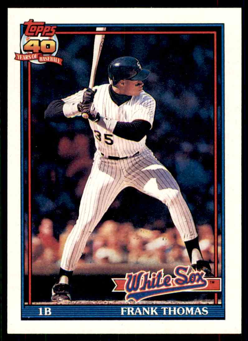 1991 Topps Frank Thomas #79 card front image