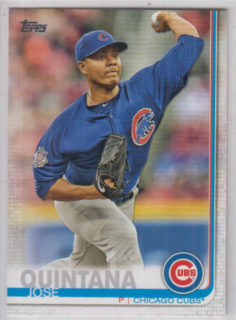 2019 Topps Jose Quintana #105 card front image