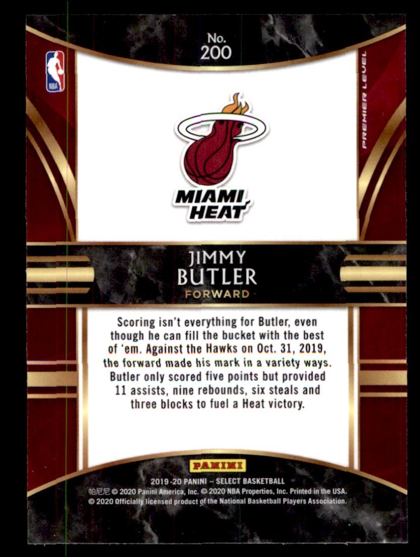 2019-20 Panini Select Jimmy Butler #200 card back image