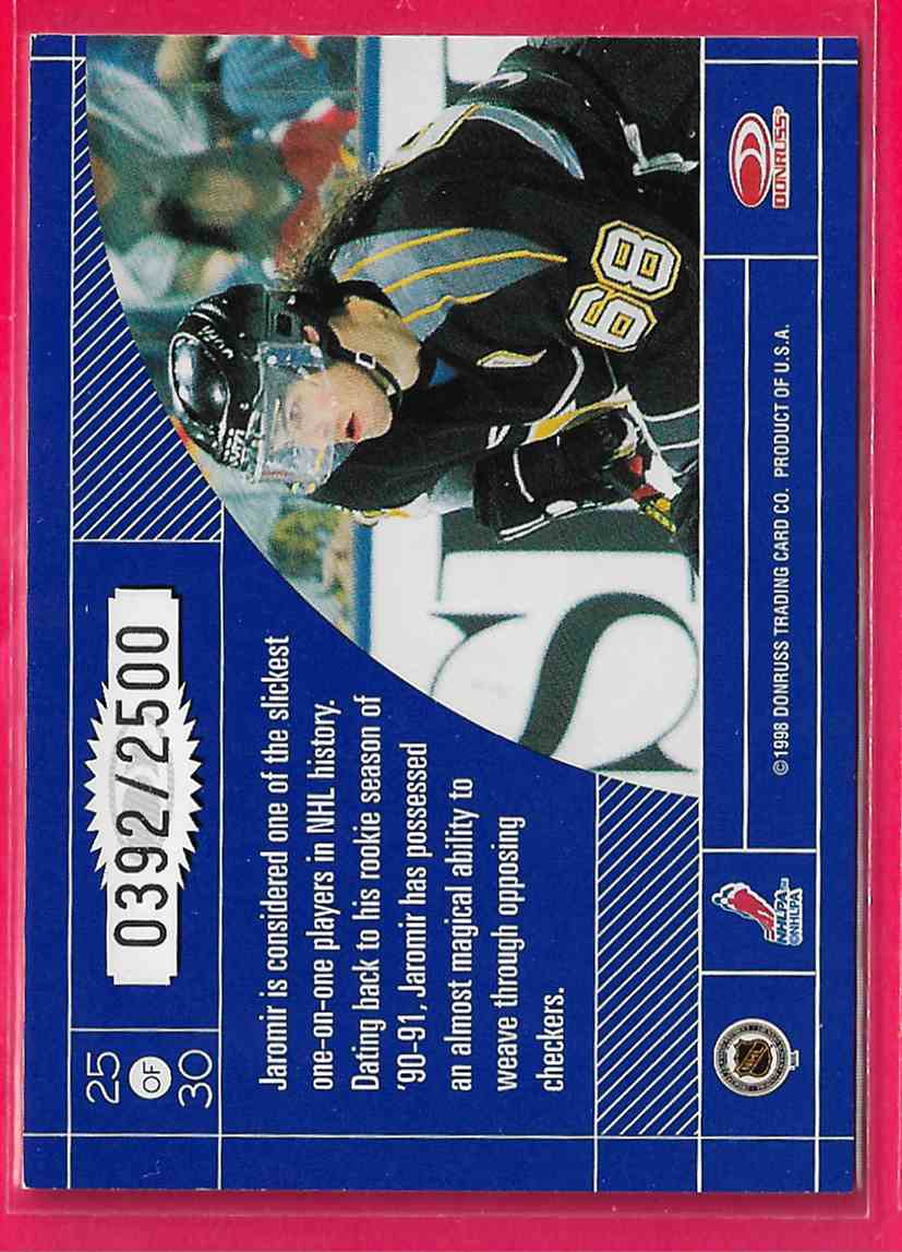 1997-98 Donruss Elite Craftsmen Jaromir Jagr #25 card back image