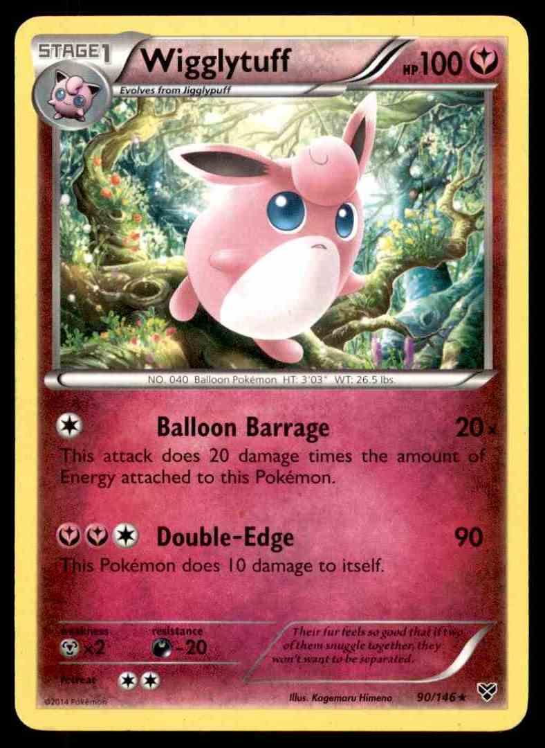 Wigglytuff 90//146 X/&Y Base Set    Rare   NM//Mint Pokemon