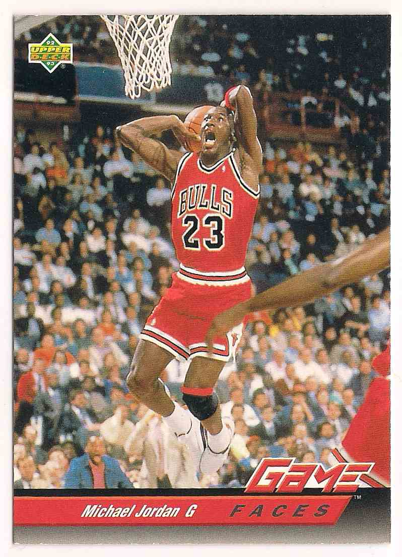 1992-93 Upper Deck Game Faces Michael Jordan #488 card front image
