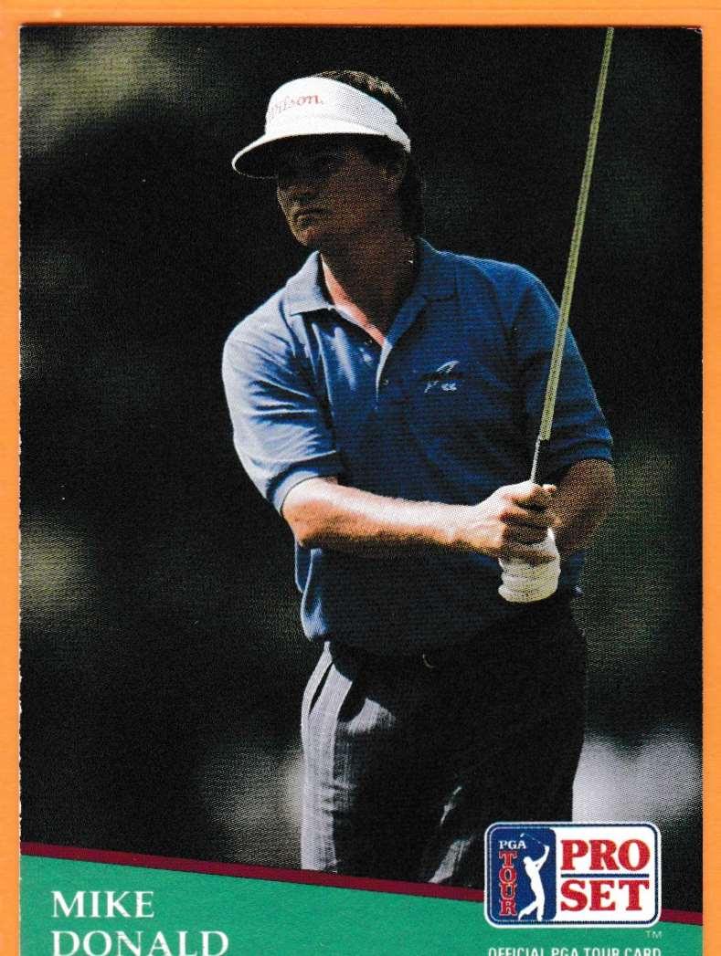 1990 Pro Set Golf 1990 PGA Tour Mike Donald #129 card front image