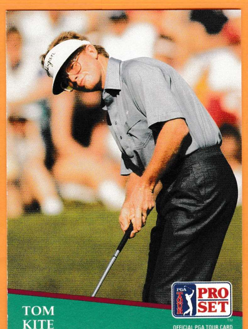 1990 Pro Set Golf 1990 PGA Tour Tom Kite #27 card front image