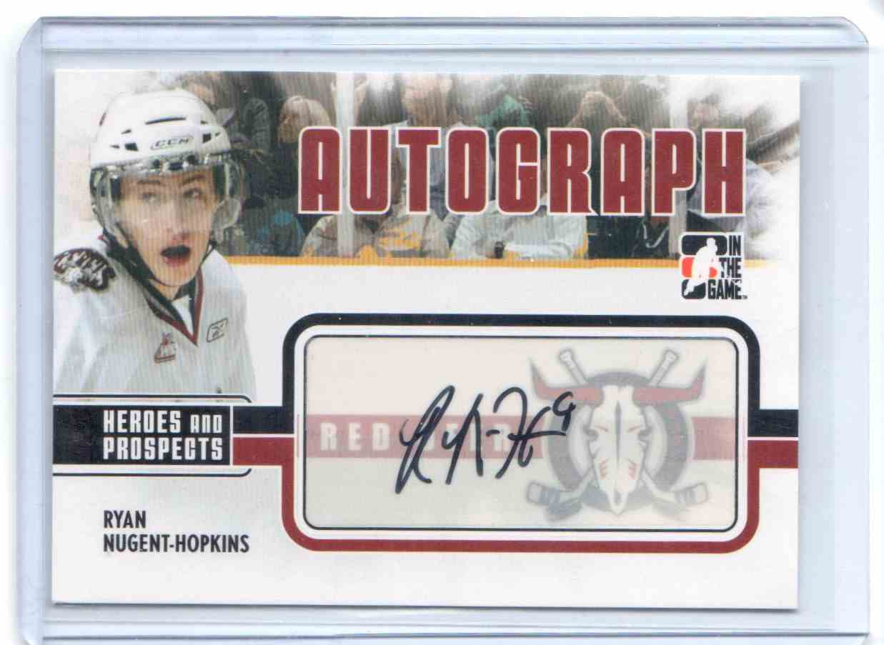 2009-10 In The Game Heroes And Prospects Autographs Ryan Nugent-Hopkins #A-RNH card front image