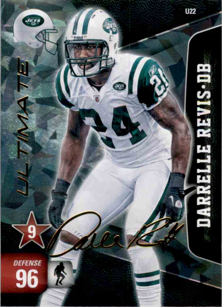 2011 Adrenalyn XL Ultimate Signature Darrelle Revis #U22 card front image
