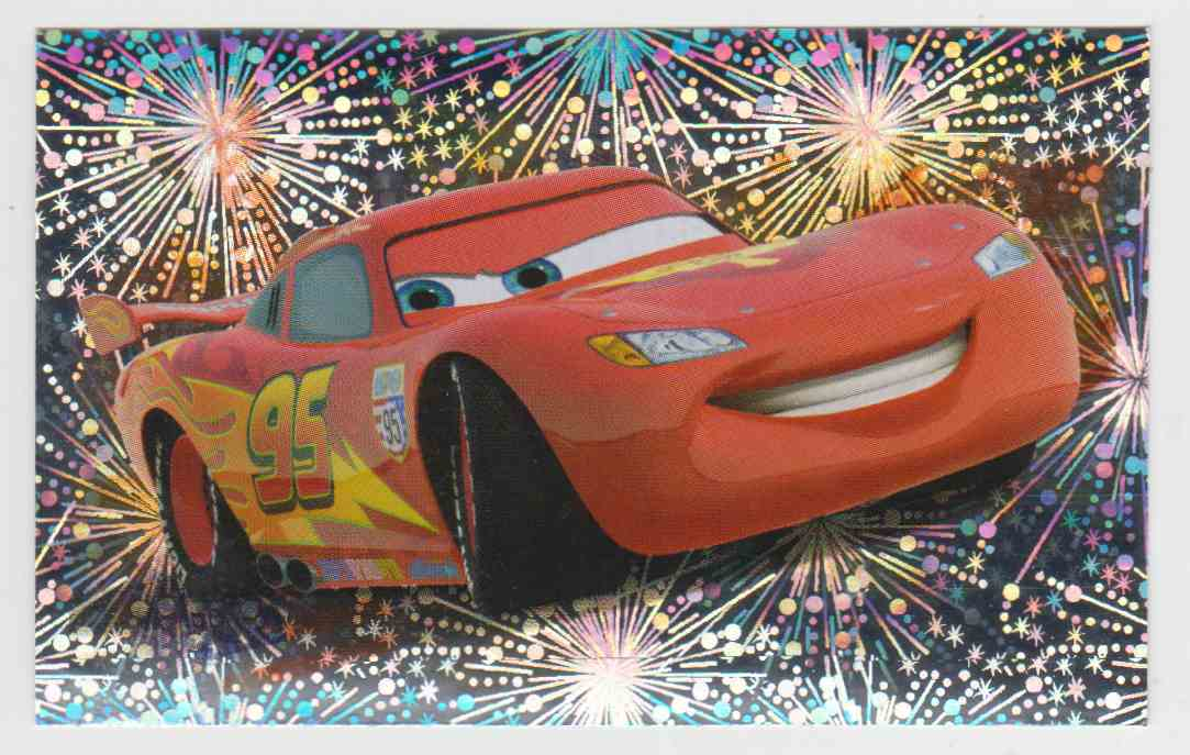 2011 Panini Disney Pixar Stickers Lightning McQueen #X5 card front image