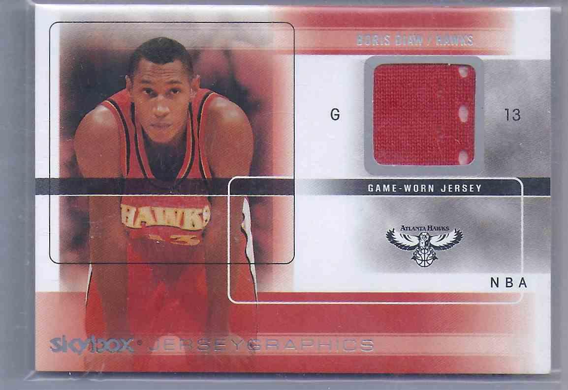 2004-05 Skybox Autographics Jerseygraphics Boris Diaw #BD card front image