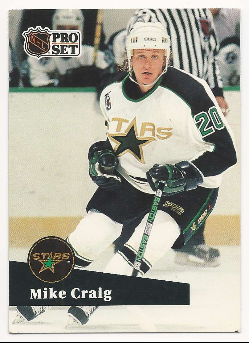 1991-92 Pro Set Mike Craig #405 card front image