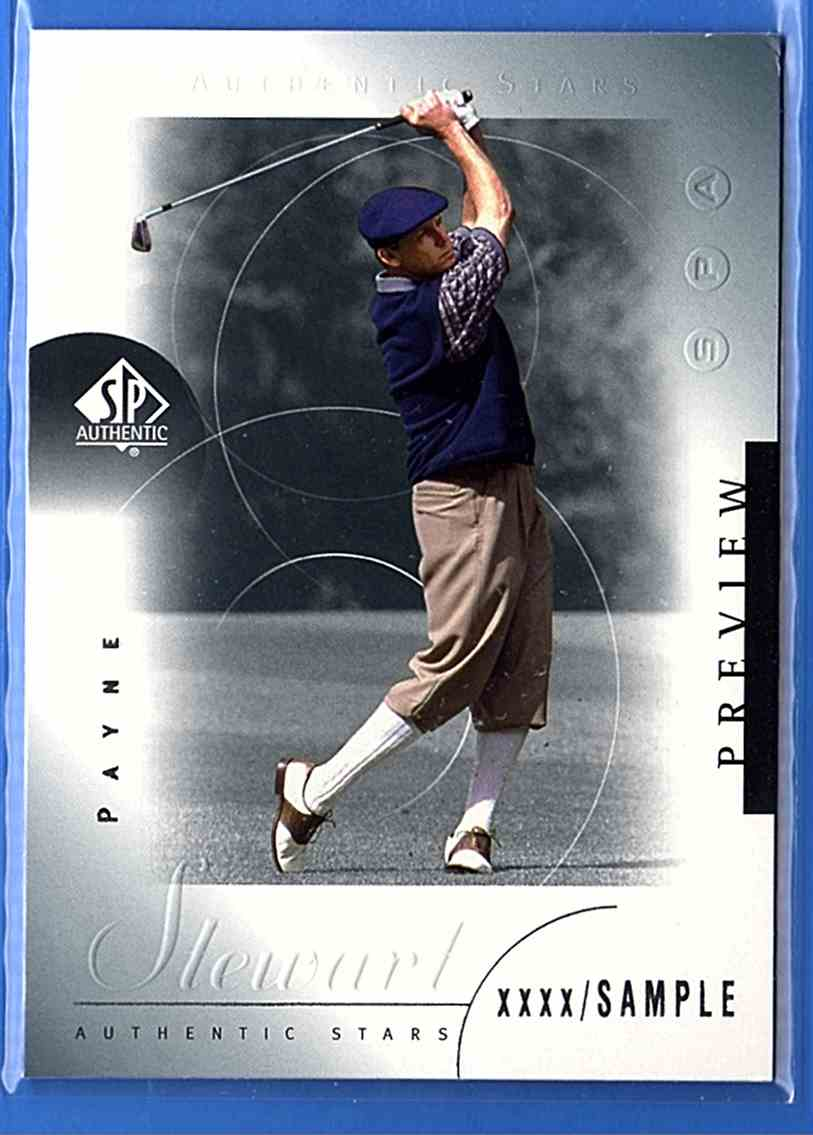 2001 SP Authentic Preview Payne Stewart Star #38 card front image