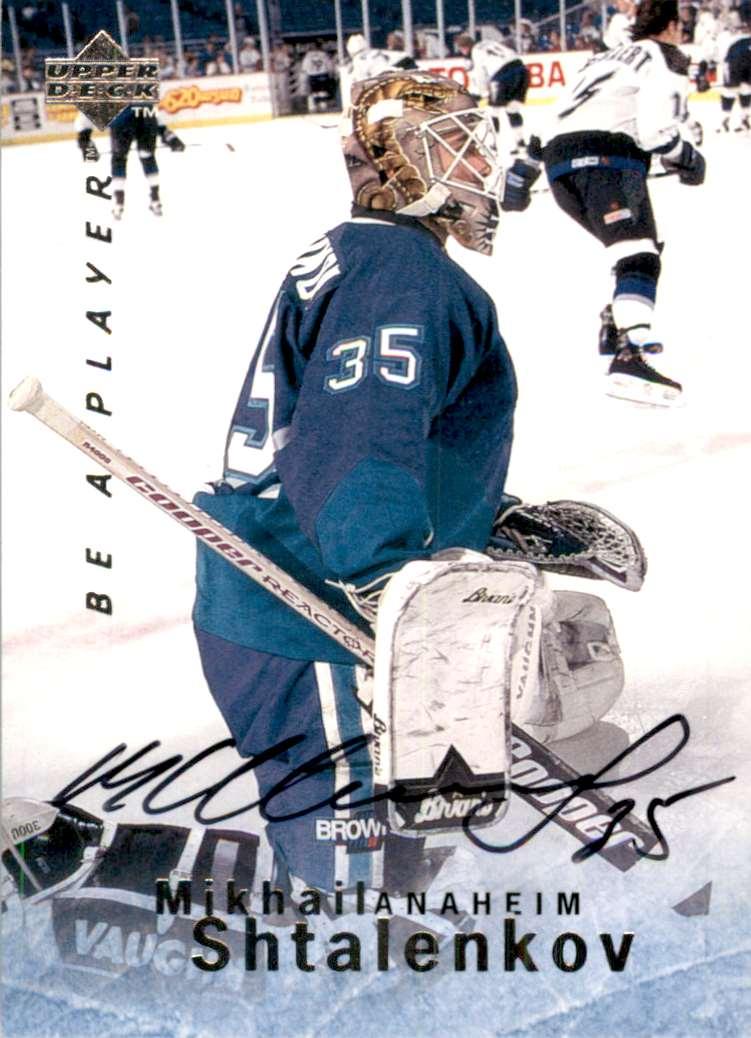 1995-96 Be A Player Autographs Mikhail Shtalenkov #S69 card front image
