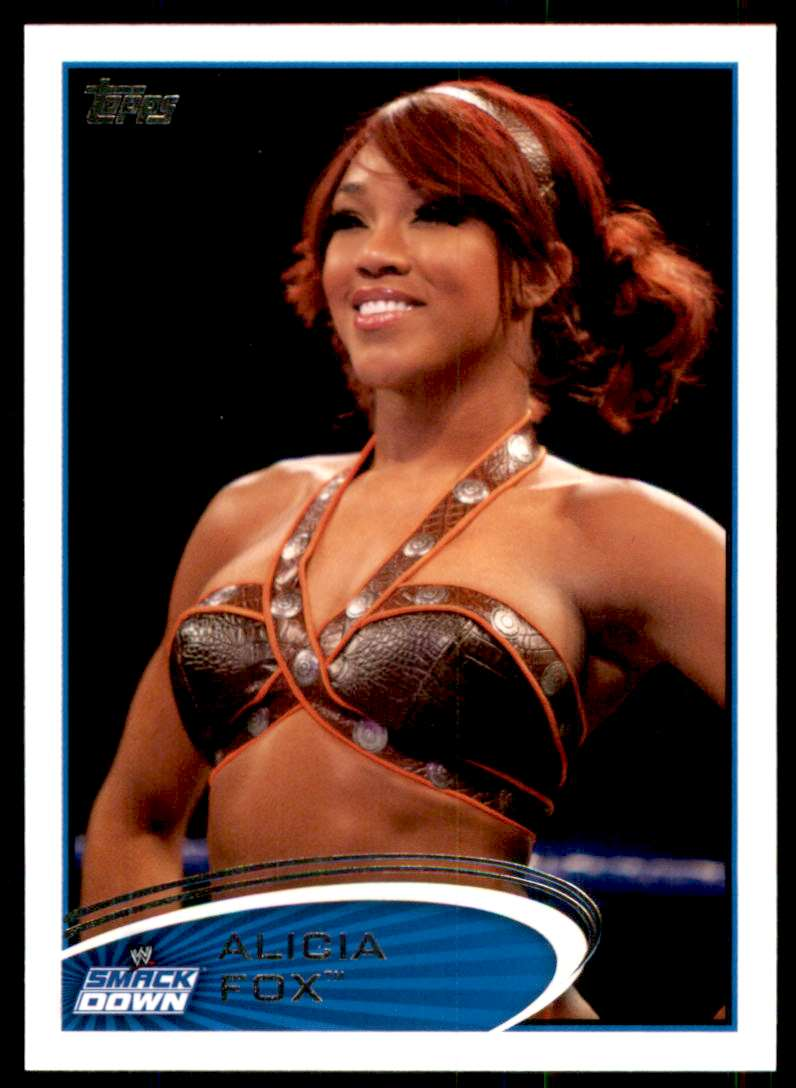2012 Topps Wwe Alicia Fox #46 card front image
