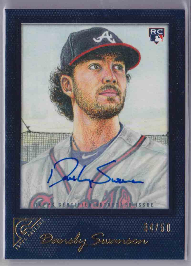 2017 Topps Gallery Autograph Dansby Swanson #33 card front image