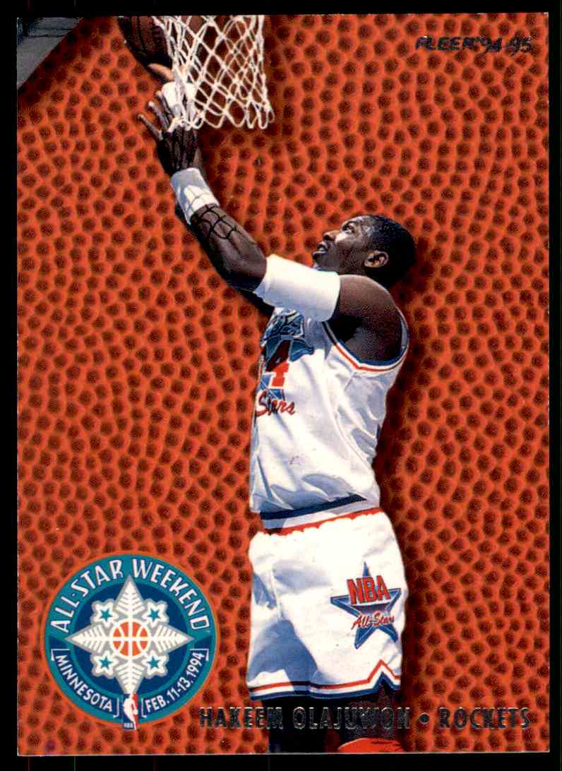 huge selection of 5d365 2910f 1994-95 Fleer All Star Weekend Hakeem Olajuwon #20 on ...