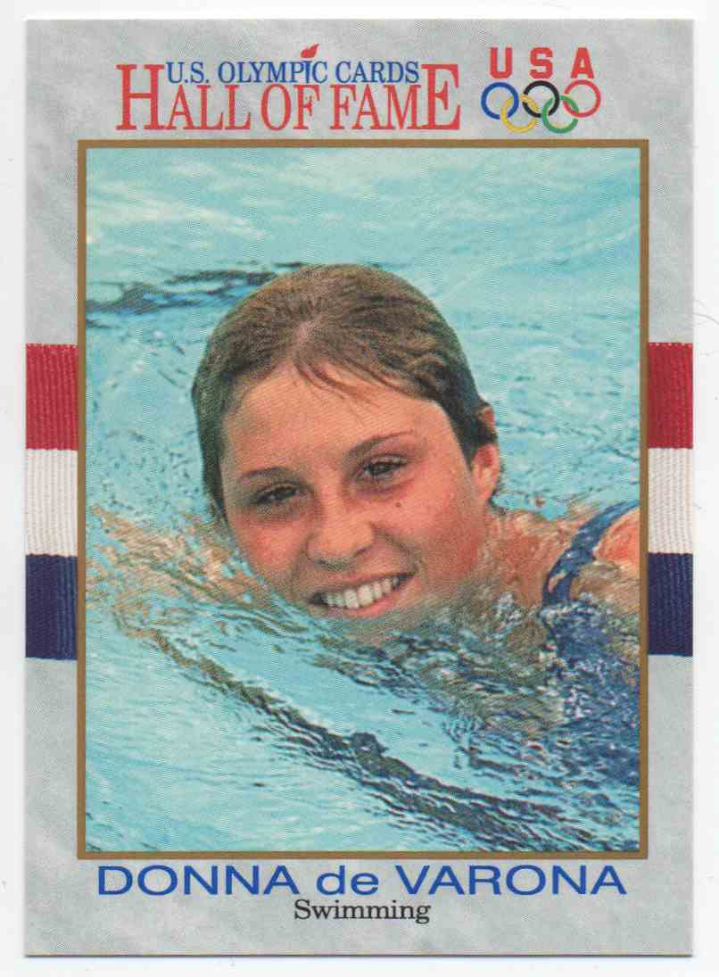 1991 Impel U.S. Olympic Hall Of Fame Donna De Varona #37 card front image