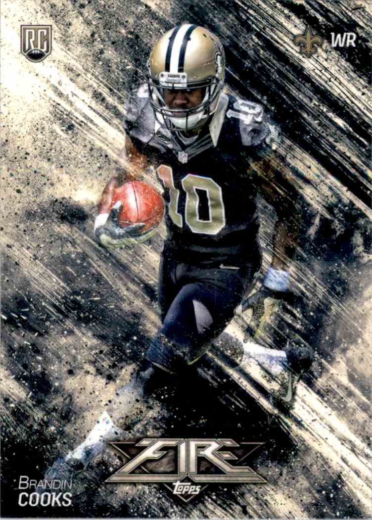 2014 Topps Fire Brandin Cooks RC #132 card front image