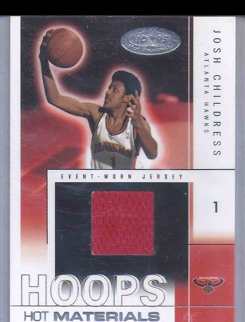 2004-05 Hoops Hot Prospects Hot Materials Josh Childress #JC card front image