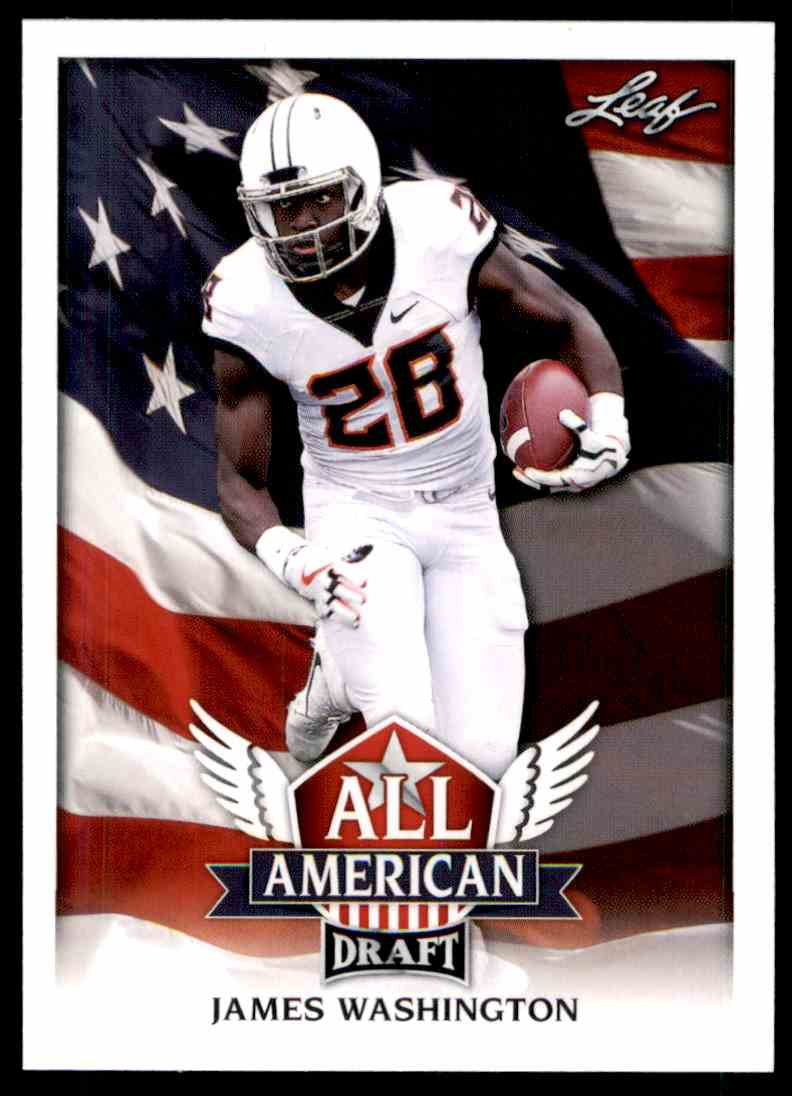 2018 Leaf Draft James Washinton #AA-06 card front image