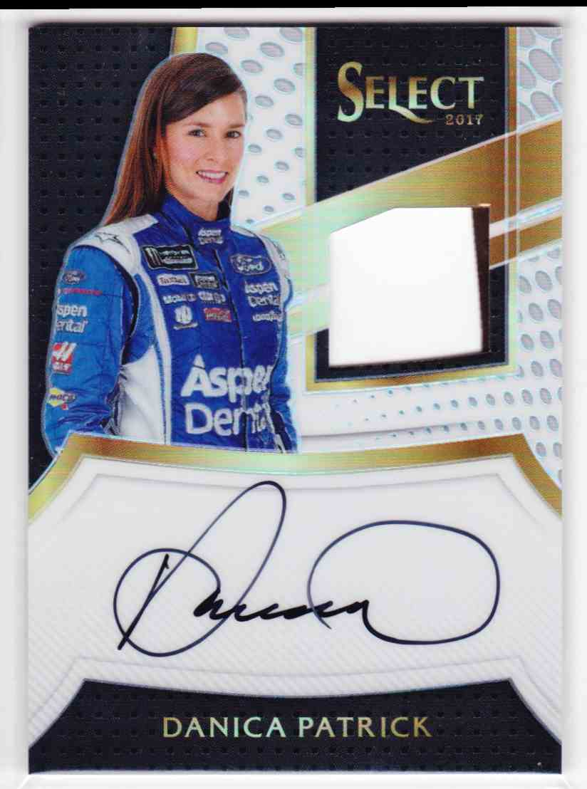 2017 Select Signature Swatches Dual Prizms White Danica Patrick #SS-DP card front image