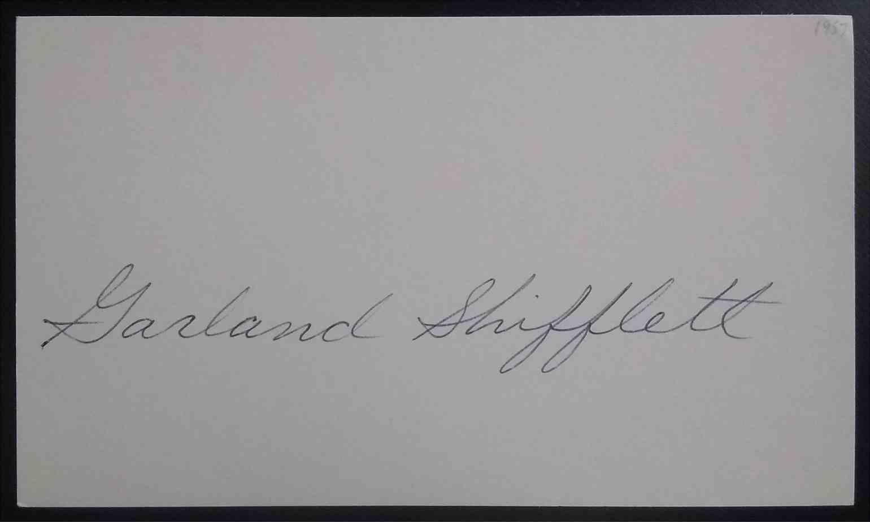 1957 3X5 Garland Shifflett card back image