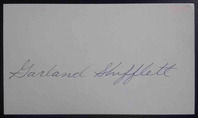 1957 3X5 Garland Shifflett card front image