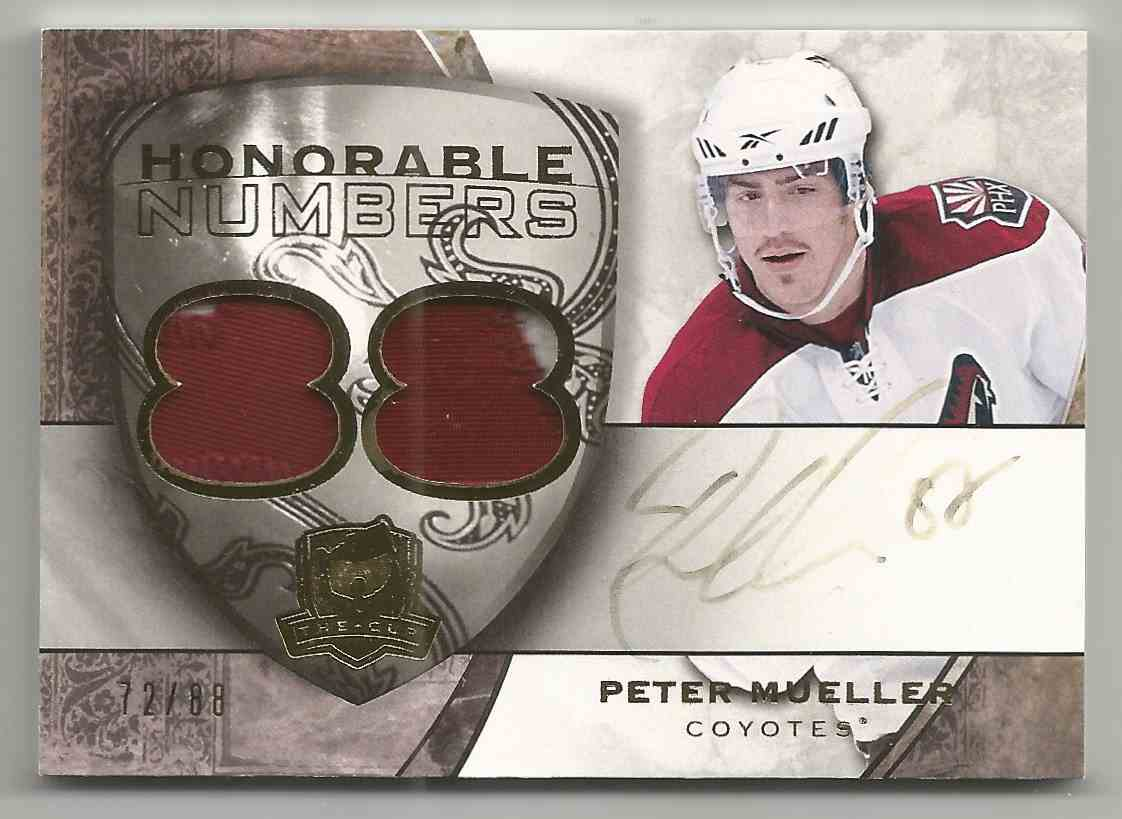 2008-09 Upper Deck The Cup Honorable Numbers Peter Mueller #HNPM card front image