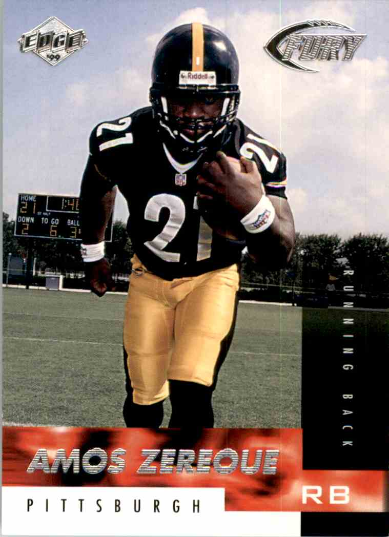 1999 Collector's Edge Fury Amos Zereoue #200 card front image