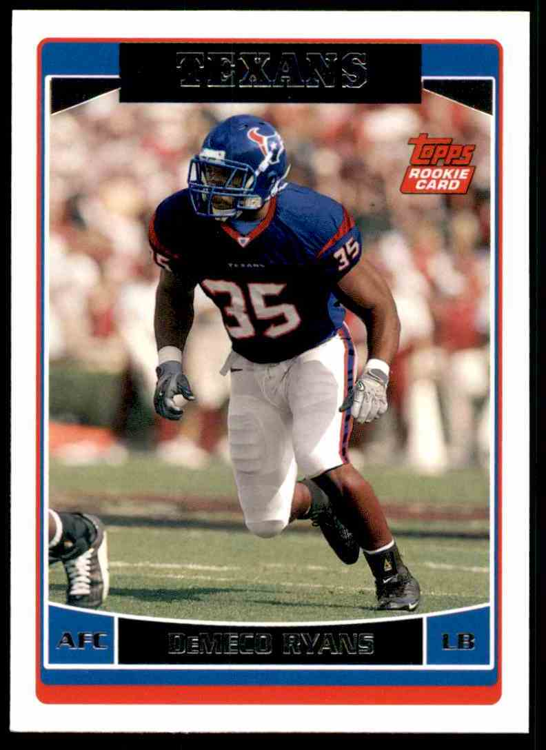 2006 Topps DeMeco Ryans RC #332 card front image
