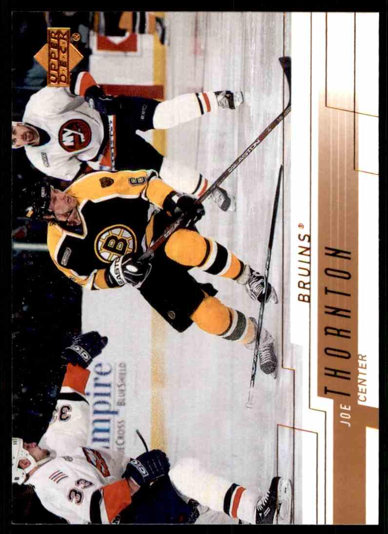 2000-01 Upper Deck Joe Thornton #13 card front image