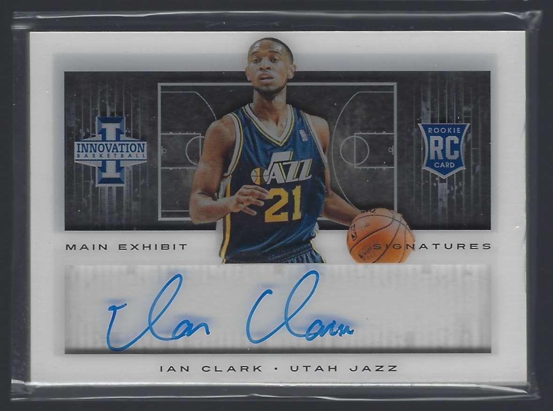 2013-14 Innovation Rookies Main Exhibit Signatures Ian Clark #12 card front image