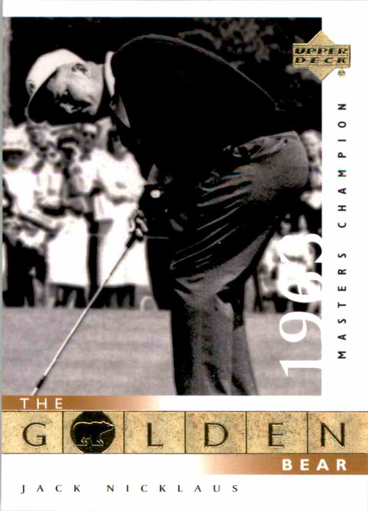 2001 Upper Deck J.Nicklaus Gb 63 Masters #107 card front image