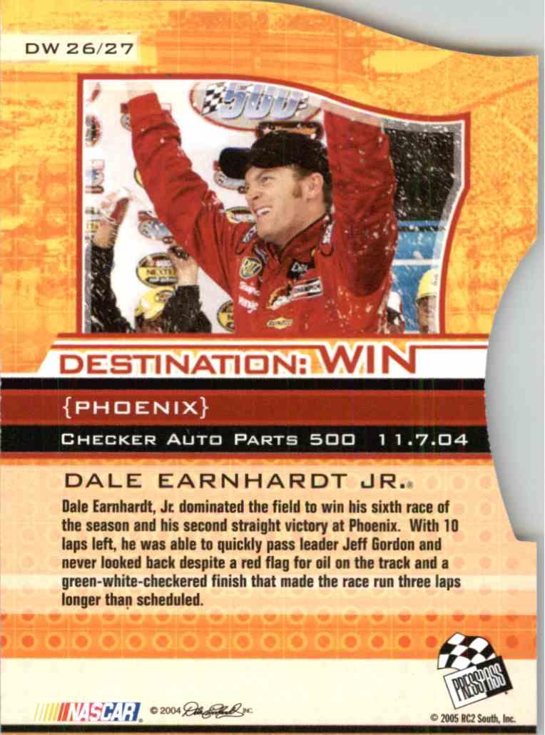 2005 Press Pass Eclipse Dale Earnhardt JR. #DW26 card back image
