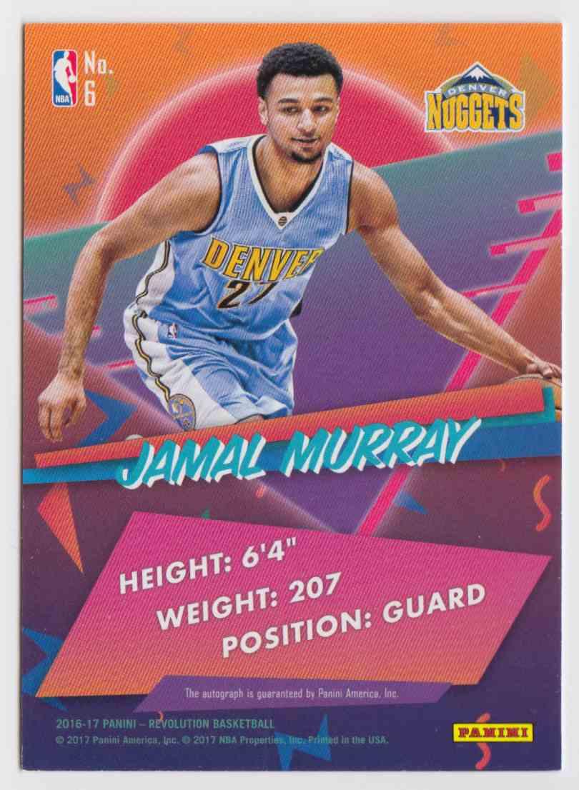 2016-17 Panini Revolution Jamal Murray #6 card back image
